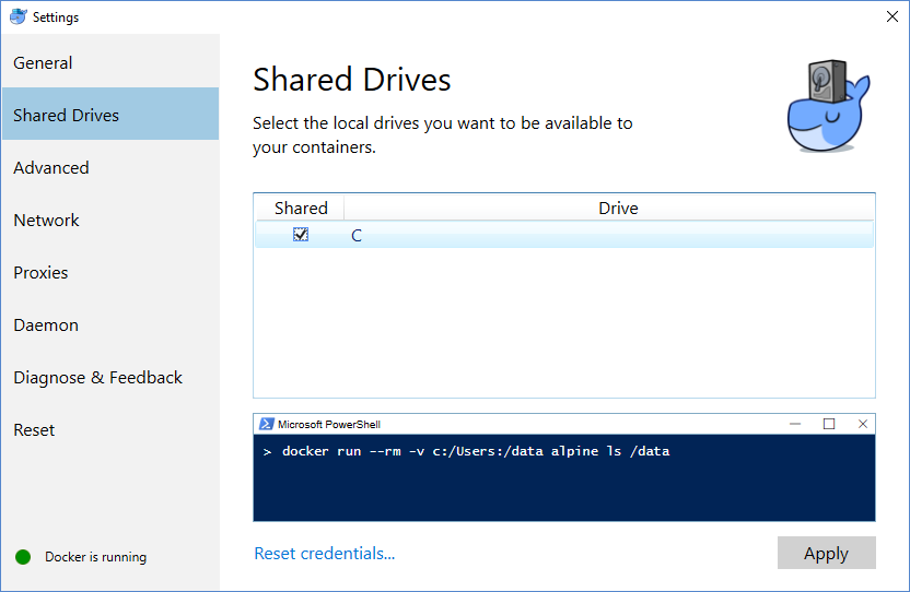 DockerSettingsSharedDrive